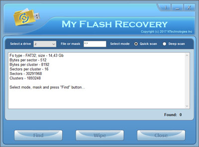 Click to view My Flash Recovery 2.2 screenshot