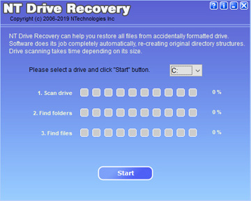 NT Drive Recovery can help you restore all files from formatted NTFS drive